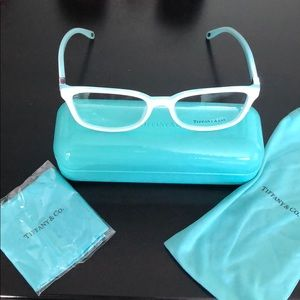 Tiffany & Co white glasses 👓 frames with case